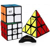 Dfantix Speed Cube Set 2X2X2 3X3X3 Pyramid Speed Cubes Bundle Qiyi Qidi 2X2 Qihang 3X3 Qiming