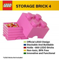 Lego Storage Brick 4 Stackable Large Capacity Organizer For Lego Building Blocks Minifigures And