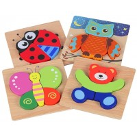 Wooden Jigsaw Puzzles For Toddlers Kids Animal Puzzles Toys For 1 2 3 Years Old Boys And Girls