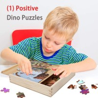 Sealive Dinosaur Jigsaw Puzzles In A Box Wooden Blocks Toddler Games Construction Toys 49 X 3