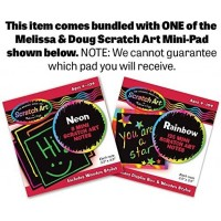 Melissa Doug Safari Social 24Piece Floor Puzzle Free Scratch Art Minipad Bundle