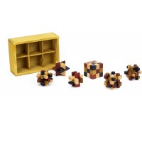 Puzzle Chest Six 3D Wooden Brain Teasing Puzzlesproblem Solving Challenges By Professor