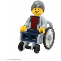 Lego Town City Fun In The Park Minifigure Disabled Handicapped Man In Wheelchair