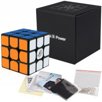 Coogam Qiyi Valk 3 Power Magnetic Speed Cube 3X3 Black The Valk3 M Puzzle