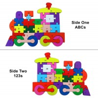 Toyzico Wooden Alphabet Puzzle 26 Pcs Building Blocks Jigsaw Doublesided Toy For Toddlers 3 And Up