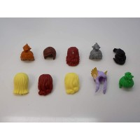 Lego Lot Of 10 Girl Minifigure Hair