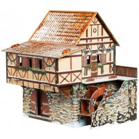 Clever Paper 2452 Innovative 3D Puzzle Medieval Town Water Mill Winter 29 Pcs 55 X 63 X