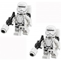 Lego Star Wars 2 Minifigures Of First Order Flame Trooper With Weapon From
