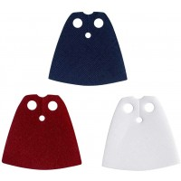 Lego Accessories 3 Cape Lot Starched Red Dark Blue And