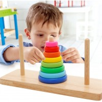 Volksrose Creative 8 Rings Tower Of Hanoi Wooden Logic Brain Teaser Puzzle For Your