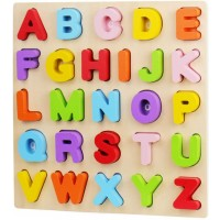 Alphabet Puzzle Wood City Abc Letter Puzzles For Toddlers1 2 3 Years Old Educational Learning Toys