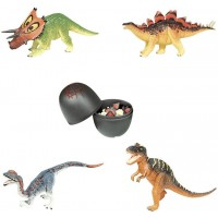 Artkal Assorted 4Pcsset Of Ukenn 3D Dinosaur Puzzles Block Diy Dino Egg Kids Educational Toy