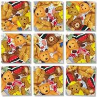 B Dazzle Teddy Bears Scramble Squares 9 Piece