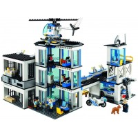Lego City Police Station 60141 Building Kit With Cop Car Jail Cell And Helicopter Top Toy And Play