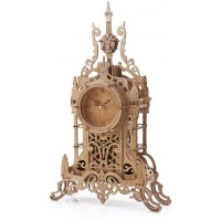 3D Wooden Puzzle Clock Model Kits For Adults Tower Desk