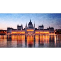 Jigsaw Puzzle 1000 Piece Budapest Night View Lights Building Classic Puzzle Diy Kit Wooden Toy