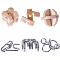 Brain Teaser Puzzles Wooden And Metal Puzzles Iq Test Disentanglement 3D Iron Link Interlock Jigsaw