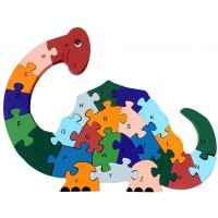 Queena Kids Wooden Building Jigsaw Puzzle 26 English Alphanumeric Numbers Children Educational