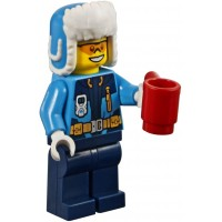 Lego 2018 City Minifigure Arctic Snow Explorer With Ushanka Hat