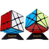 Speed Cube Set Of 2 Bundle Pack Windmill Cube Magic Puzzle Yj Axis V2 New Version Fluctuation Angle