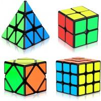 Aitey Speed Cube Set Magic Cube Bundle 2X2X2 3X3X3 Pyramid Skew Speed Cube Smooth Sticker Cubes