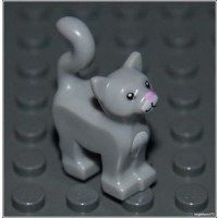 Lego Harry Potter X1 Light Gray Cat City Kitten Animal Girl Boy Minifigure