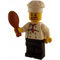 Lego Loose Chef Minifigure Black Pants With
