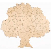 120 Piece Blank Tree Shaped Wooden Guest Book