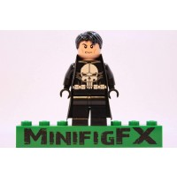 Lego Custom The Punisher Minifig Marvel Super Hero Frank
