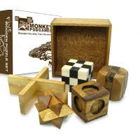 Five Puzzles In A Tricky Box Gift Set 5 Great Puzzles To