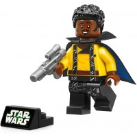 Lego Solo A Star Wars Story Minifigure Lando Calrissian With Blaster And Display Stand