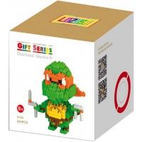 Lozusa Turtle Cartoon Character 200 Pcs Diamond Block Mini Figure Hero Micro Blocks Construction