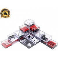 Wekity Party Favors Brain Game 24Pcs Maze Puzzle Box 3D Threedimensional Ball Maze Funny And Cool