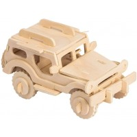 3D Wooden Model Toy Kit World Puzzle Build Car Kit Wooden 3D Puzzles Build Car Kit Kids Wooden