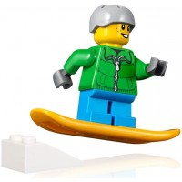 Lego Holiday Minifigure Snowboarder Boy With Snowboard And Mini Jump