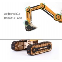 3D Wooden Puzzle Diy Excavator Model Educational Toy Ideal Gift And Decoration And Adult 168