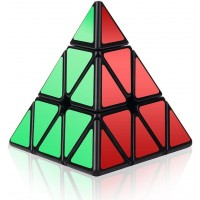Roxenda Speed Cube 3X3X3 Pyramid Speed Cube Triangle Puzzle Magic Cube Enhanced Edition Turns
