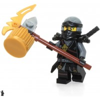 Lego Ninjago Day Of The Departed Minifigure Cole Scabbard Limited Edition Foil