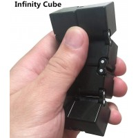 Black Infinity Cube By Duddy Pro Desk Toy For Focus And Concentration Premium Spinner Cube Abs