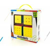Speed Cube Puzzle Pack 2X2 3X3 4X4 5X5 Stickerless Cube Set 4 Pieces Magic Cubes Collection Puzzle