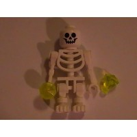 Lego Skeleton Minifigure Ghost With 2 Jewel