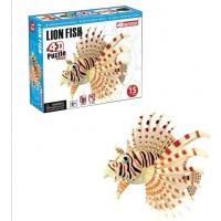 Hansen Build Your Own Lion Fish Model 4D Puzzle For Age 6 15 Piece