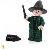 Lego 2018 Harry Potter Minifigure Professor Minerva Mcgonagall With Black Wand And Stand