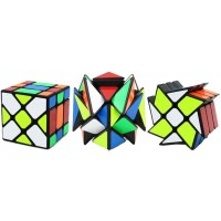 Tingw 3 Packed 3X3 Yj Fluctuation Angle Puzzle Cube Crazy Fisher Cube Magic Cube 3X3 3X3 Yj Wheel