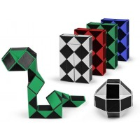 Yofobu 48 Pack Snake Cube Blocks Twist Puzzle Collection Snake Speed Cubes Skew Speed Cube For