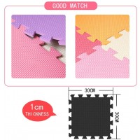 Mqiaoham Children Puzzle Mat Play Squares Tiles Baby Mats For Floor Soft