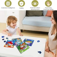 Wooden Jigsaw Puzzles Set Age 25 Traffic Preschool Puzzles For Toddler Children Learning