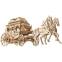Ugears Mechanical Wooden 3D Puzzle Model Stagecoach Construction