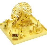 Mu Amusement Park Ferris Wheel 3D Metal Puzzle Assemble Model Kits Diy Laser Cut Jigsaw Toy