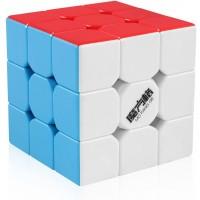 Dfantix Qiyi Thunderclap 3X3 Speed Cube Stickerless Smooth Magic Cube Puzzle